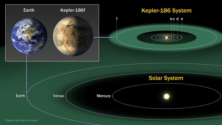 Kepler-186f & Earth