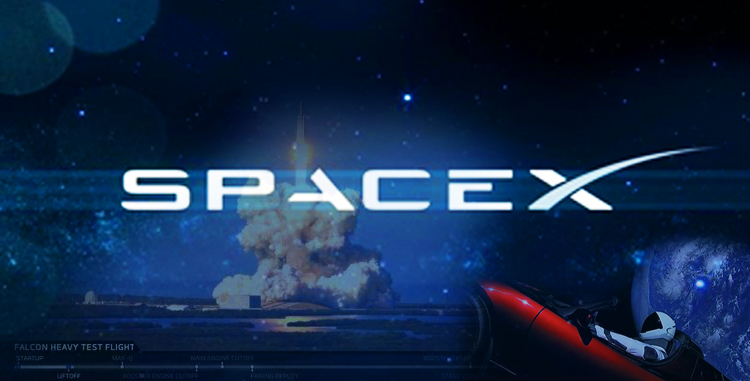 SpaceX - Falcon Heavy - Tesla Roadster